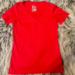 The Nike Tee in Red